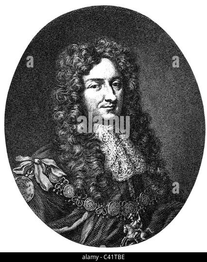 Hyde, Laurence, 1st Earl of Rochester, March 1641 - 2.5.1711, English politician, portrait, copper engraving by - Stock Image