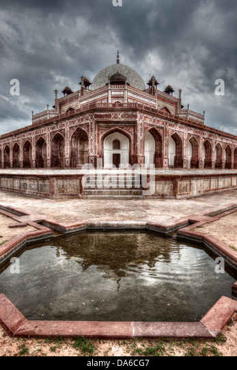 Humayun's Tomb. Delhi, India. HDR image - Stock Image