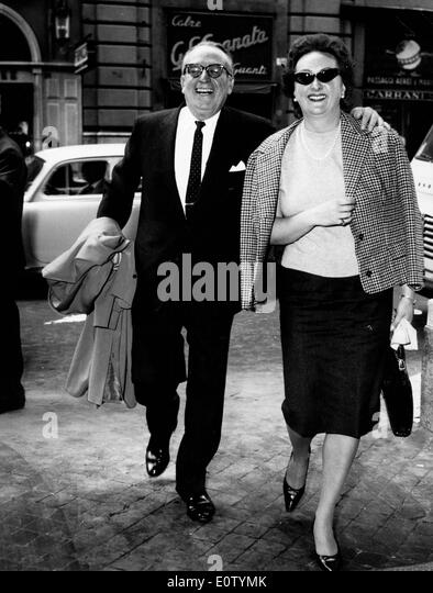 Actor Harold Lloyd and Mildred Davis in Rome - Stock Image