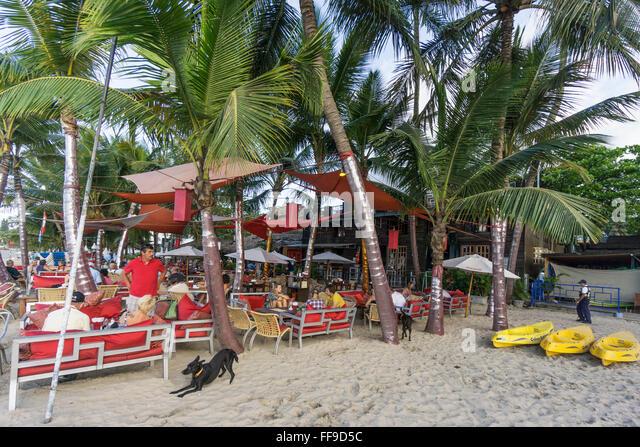 Beach bar, Cabarete , Dominican Republic - Stock-Bilder