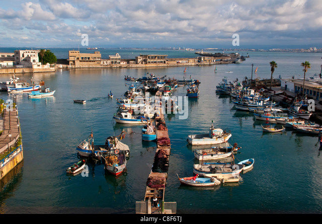 The harbour of Algiers, Algeria, North Africa - Stock Image