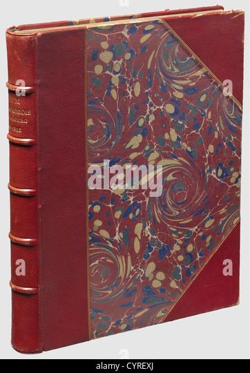 Album du Bourgeois de Hambourg 1806 - 1818, Paris, 1902. Large format volume with 158 coloured, unsophisticated - Stock Image