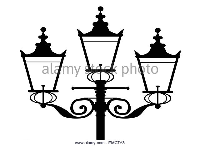 lamp post silhouette black and white stock photos  u0026 images