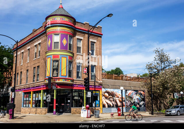 Illinois Chicago North Side Lincoln Park neighborhood community area Carnival Finer Foods grocery store exterior - Stock Image