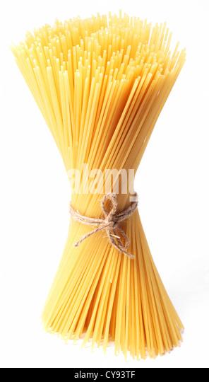 Spaghetti isolated on white background. - Stock Image