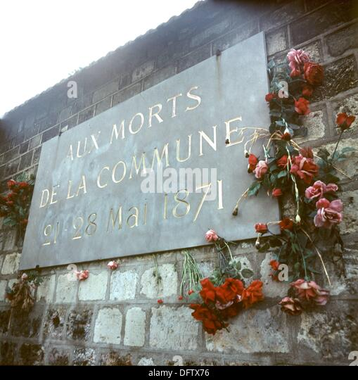 The communards wall stock photos the communards wall for 18 rue de la chaise