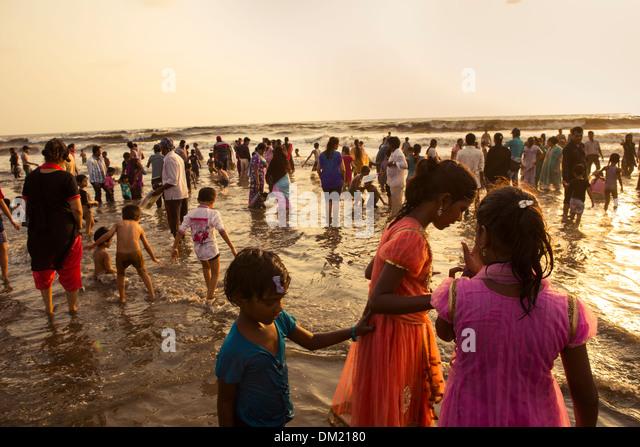 Juhu Beach - Mumbai (Bombay), India - Stock Image