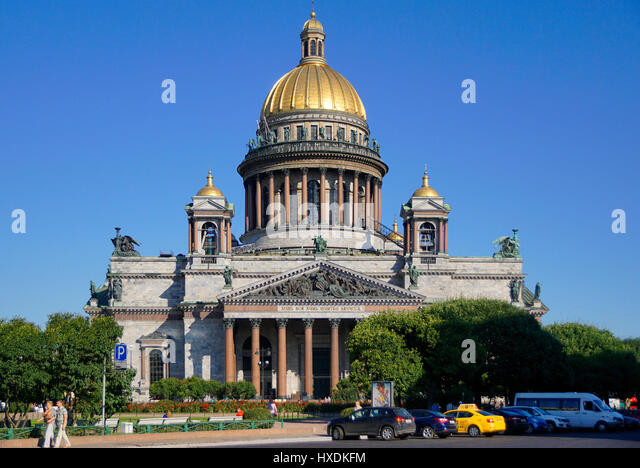 St. Isaac's Cathedral in St. Petersburg, Russia. - Stock Image