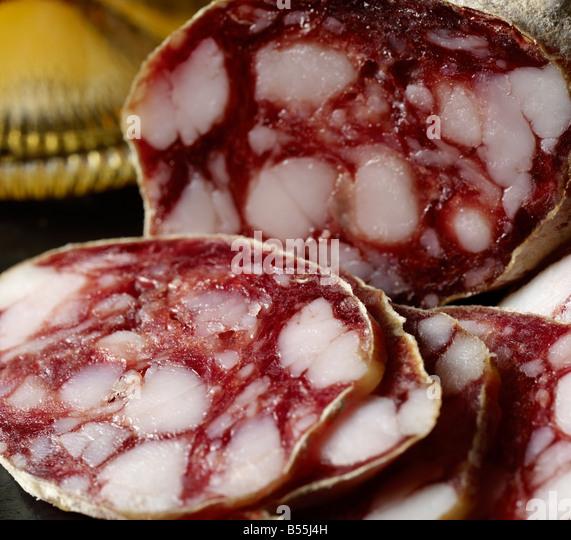 Italian saucisson - Stock Image