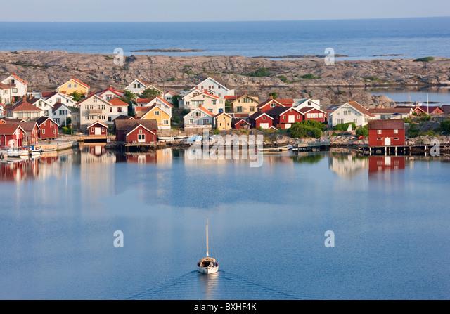 Smogen, Bohuslan Coast, Sweden - Stock Image