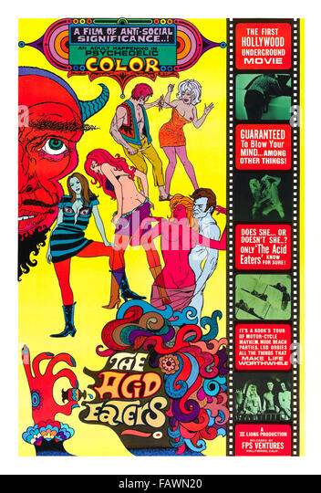 The Acid Eaters Poster - Stock Image