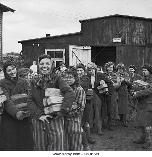 The Liberation of Bergen-belsen Concentration Camp, April 1945 BU4274. - Stock Image