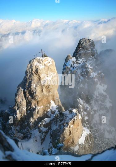 crag on AyPertri - Stock Image