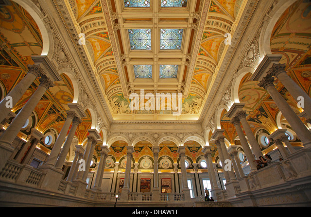 The Great Hall in the Library of Congress, Washington DC, USA - Stock-Bilder