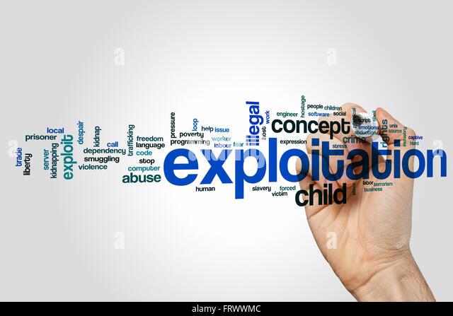 Exploitation word cloud - Stock-Bilder