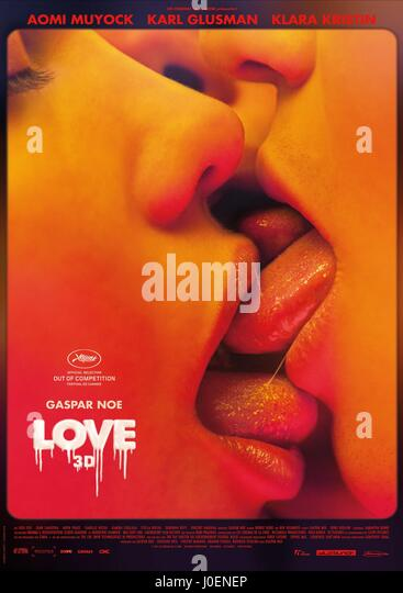 MOVIE POSTER LOVE (2015) - Stock Image