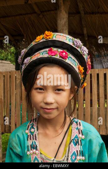 Hmong Child in Ban Na Ouane, Laos - Stock-Bilder