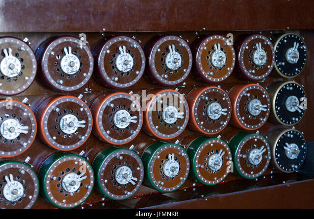 A working Bombe at Bletchley Park, Buckinghamshire - Stock Image