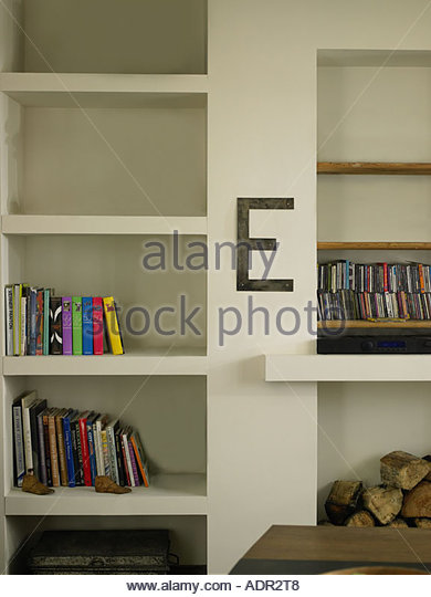 Objects on shelves - Stock Image