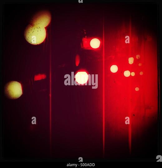 Abstract red lights - Stock Image