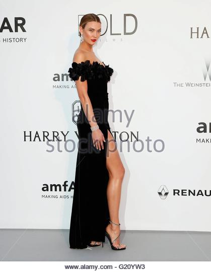 epa05317416 US model Karlie Kloss attends the Cinema Against AIDS amfAR gala 2016 held at the Hotel du Cap, Eden - Stock Image