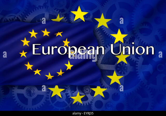 Trade and Industry in the European Union - Stock Image