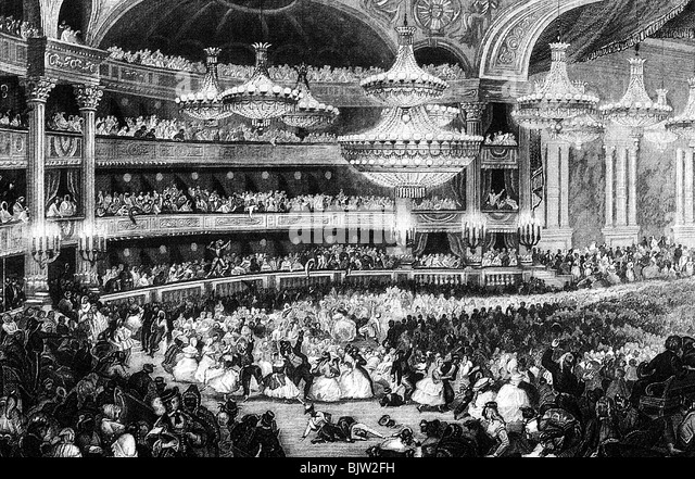 geography / travel, France, Paris, opera, masked-ball in opera house, circa 1845, 19th century, historic, historical, - Stock Image