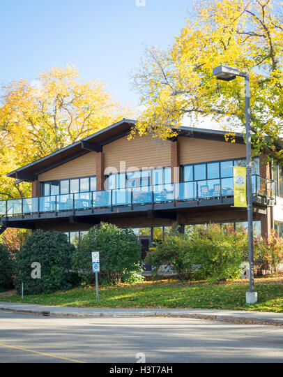 The exterior of the Faculty Club at the University of Alberta in Edmonton, Alberta, Canada. - Stock Image