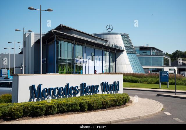 Mercedes Benz Sign Mercedes Benz World Brooklands Stock