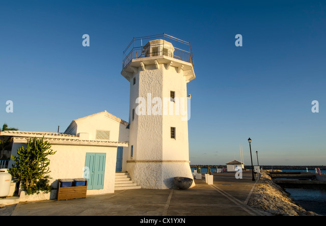 Lighthouse at La Marina, Casa de Campo resort, La Romana, Dominican Republic - Stock Image