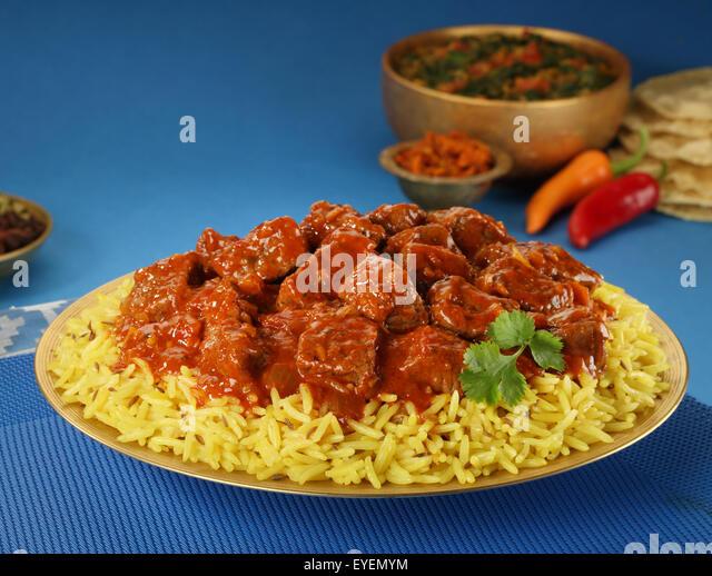 INDIAN LAMB VINDALOO - Stock Image