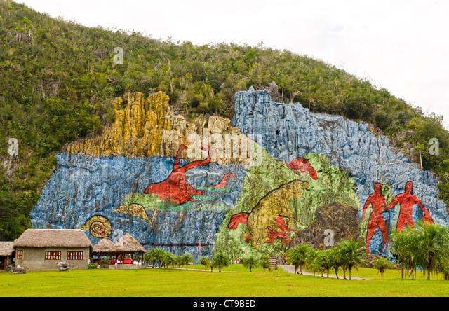 Mural de la prehistoria stock photos mural de la for Mural de la prehistoria