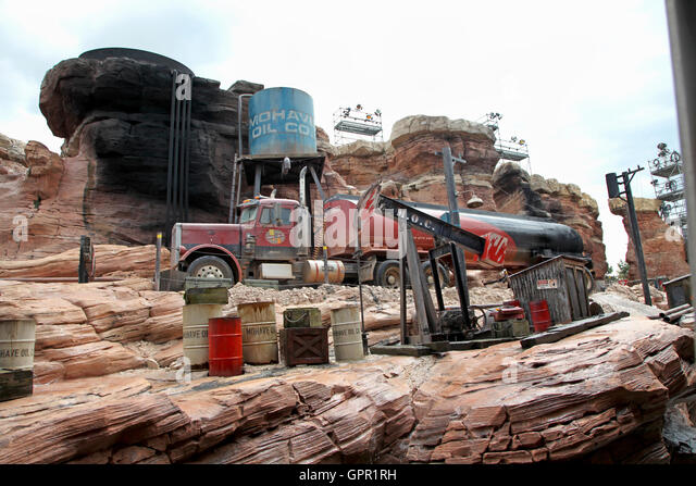 Orlando, Florida. July 1st, 2011. The truck of Catastrophe Canyon on the Backlot Tour, Disney's Hollywood Studios. - Stock Image