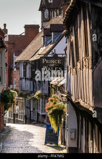 Prince of Wales (Free House) Ledbury Herefordshire England - Stock Image