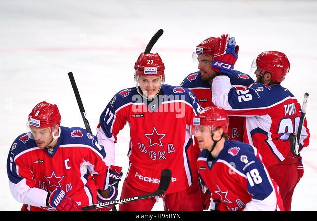 Moscow, Russia. 19th Nov, 2016. CSKA Moscow's Denis Denisov, Kirill Petrov, Igor Ozhiganov, Alexander Popov - Stock Image