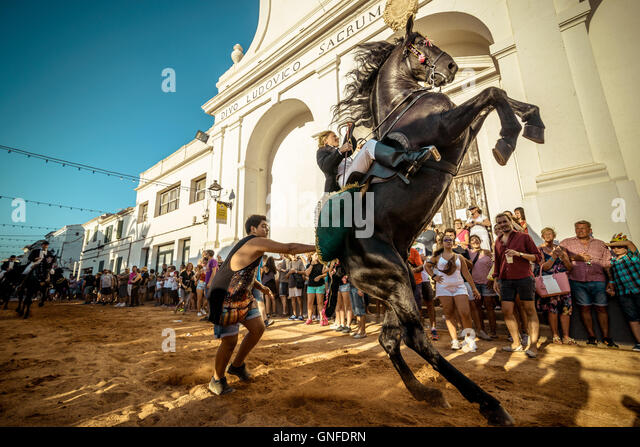 Sant Lluis Spain  City pictures : Sant Lluis, Balearic Islands, Spain. 27th Aug, 2016. Afestival goeer ...