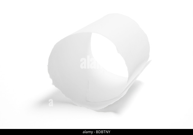 Rolled Paper Strip - Stock Image