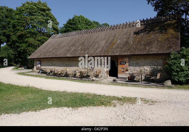 Art gallery and museum shop in Koguva Village in Island Muhu. Saaremaa, Estonia. - Stock Image