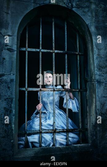 Woman in victorian dress - Stock-Bilder