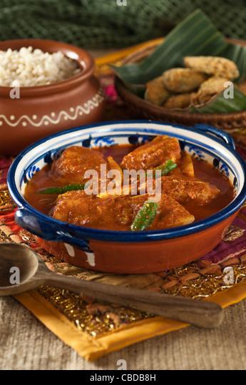 Goa fish curry and rawa fish fry India food - Stock-Bilder