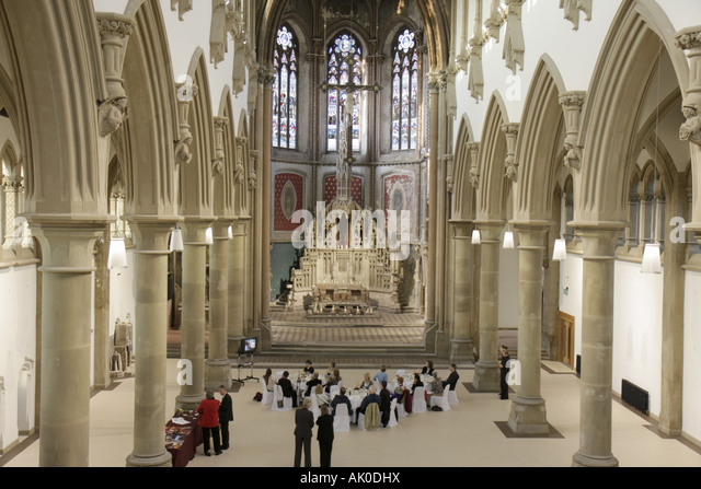 UK, England, Manchester, Gorton Monastery, built 1863, St. Francis Church and Friary, altar, - Stock Image