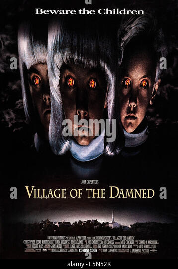 VILLAGE OF THE DAMNED, US poster art, 1995, ©Universal Pictures/courtesy Everett Collection - Stock Image