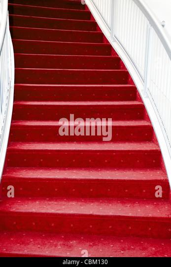 stair with luxury red carpet - Stock-Bilder