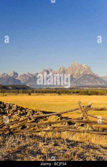 Teton Mountain Range, Grand Teton National Park, Wyoming, USA - Stock-Bilder