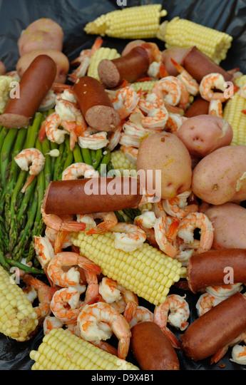 Shrimp boil. - Stock Image