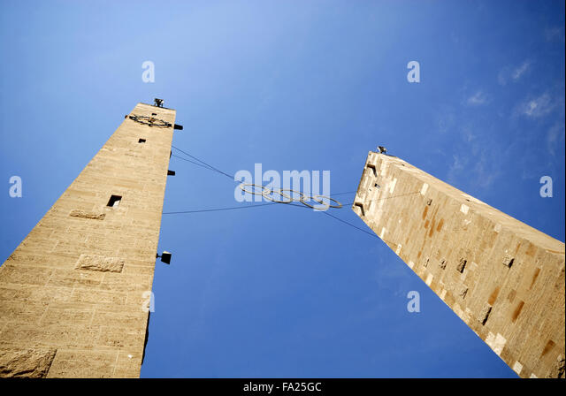 Entrance towers of the1936 Olympic Stadium, Berlin, Germany - Stock Image