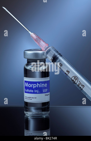 Syringe and morphine - Stock Image