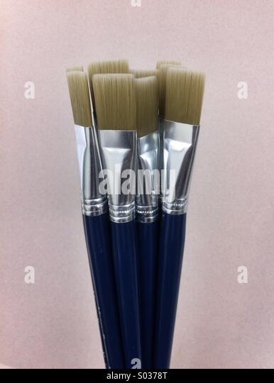Artists paintbrushes - Stock Image