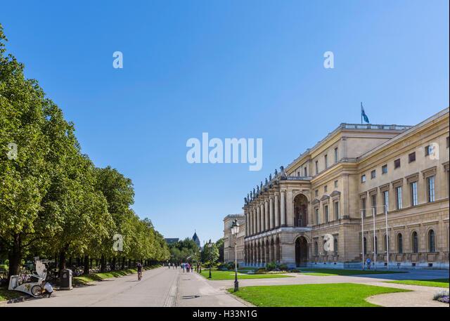 The Hofgarten aspect of the Residenz, the Bavarian royal palace, Munich, Bavaria, Germany - Stock-Bilder