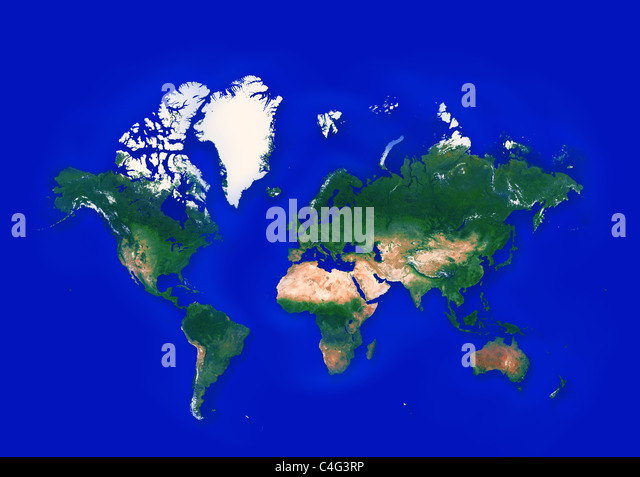 world map with all countries - Stock Image